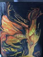 Acrylics - Fire Dragon - Acrylic