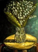 Still Life - Lily Of The Valley Oil Painting - Oil Canvas