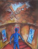 The Watchman - The Hands Of The Narrator - Pastel On Paper