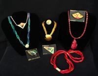 Silk Jewelry - Samples Of Silk Jewelry - Silk Painting