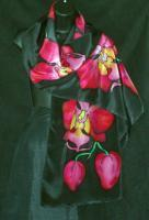 Scarves - Orchids - Silk Painting