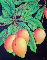 Floral - Mangoes - Silk Painting