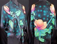 Clothing - Small Jacket - Magnolia - Silk Painting