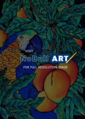 Animals - Tropical Parrot II - Silk Painting