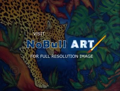 Animals - Night Stalk - Silk Painting