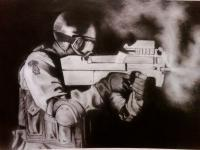Drawings - Soldier - Graphite