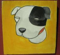 Dog - Dog 01 - Watercolor On Plywood