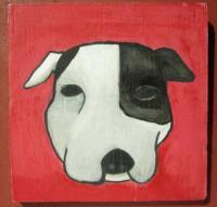 Dog - Dog 03 - Watercolor On Plywood
