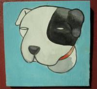 Dog - Dog 05 - Watercolor On Plywood