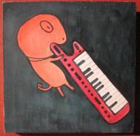 Music - Music 01 - Watercolor On Plywood