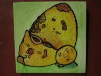 Mushroom Man - Mushroom Man 02 - Watercolor On Plywood
