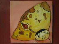 Mushroom Man - Mushroom Man 04 - Watercolor On Plywood