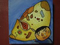 Mushroom Man - Mushroom Man 07 - Watercolor On Plywood