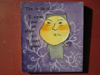 The Truth Is 07 - Watercolor On Plywood Paintings - By Louise Hung, Caricature Painting Artist