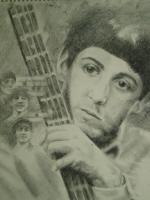 Young Paul - Graphite Pencils Drawings - By Joanna Gates, Realism Drawing Artist