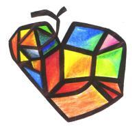 Fruits - Flying Apple - Pen Paper Colors