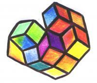 Cubes - Ufo Cubes - Pen Paper Colors