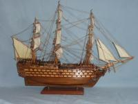Model Of The Hms Victory - Medium Woodwork - By Louis Nanette, Hand Crafted Model Ships Woodwork Artist