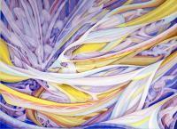 Specter Of Gladness - Watercolors Paintings - By Calvin Alexander Mcfarlane Sr, Abstract Painting Artist