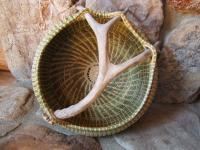 Basketry - Sweetgrass Antler Basket - Sweetgrass