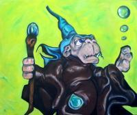 Lord Of Bubbles - Oil On Canvas Paintings - By Anton Nichols, Fantasy Painting Artist