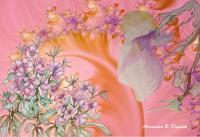 Spring Pink - Drawing  Fractal Mixed Media - By Alexander Drumm, Flowers Mixed Media Artist