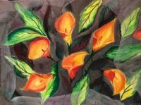 Paintings - Calla Lilies - Watercolor