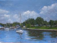Seascape - St Pete Harbor - Oil On Linen