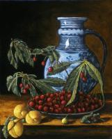 Old Master - Old Master Still Life With Blue Pitcher - Oil On Linen