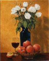 Wine And Roses - Oil On Linen Paintings - By Gary Sisco, Old Master Painting Artist