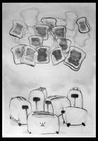 Drawings - Gifted Toaster - Ink