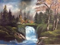 Nature - Waterfall - Oil