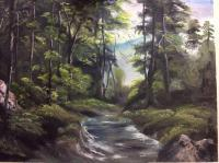 Forest View - Oil Paintings - By Padmini P, Na Painting Artist