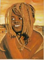 Family - Himba Girl - Watercolor