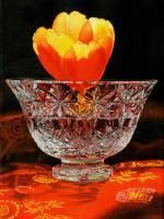 Yellow Tulip And Crystal - Watercolor Paintings - By Soon  Y Warren, Realism Painting Artist