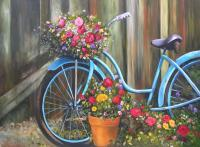 Vintage Life - Vintage Blue Bicycle - Print