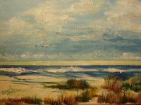 Beach Grass - Acrylic  On  Canvas Paintings - By Sandy Kline, Sandys Gentle Touch Painting Artist