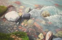 Mountain Water - Oil On Canvas Paintings - By Baktybek Asanbekov, Realism Painting Artist