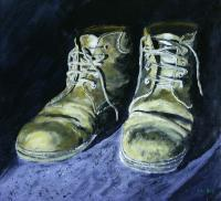 Shoes - Acrylics Paintings - By Voye Daniel, Realism Painting Artist