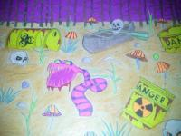 Destruction - Radioactive Monster - Drawing Materials Pencil Marke