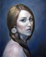 Portrait Of Mylene - Oil On Canvas Paintings - By Lydia Pepin, Realism Painting Artist