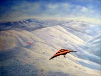 Nature - The Hangglider - Oil On Canvas