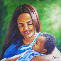 Paintings - Mothers Pride - Acrylic On Canvas