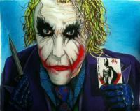The Joker - Joker Which Do You Choose - Colored Pencil