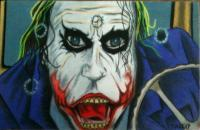 The Joker - Joker Behind The Wheel - Colored Pencil