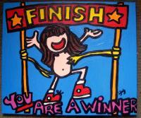 Laura Jane Originals - You Are A Winner - Acrylic On Stretched Canvas