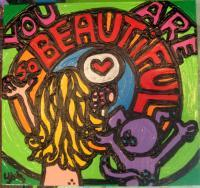 Laura Jane Originals - You Are So Beautiful - Acrylic On Pine