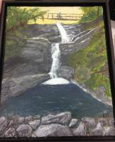 Trails - Cpr Trail Waterfall - Acrylic