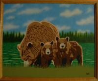 Bears - Dont Mess With Us - Acrylic And Airbrush On Flat C