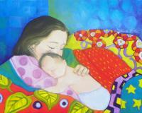 Motherchild - Holding Happiness - Oil On Canvas